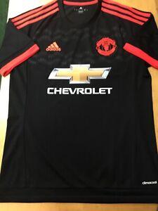 Details about adidas manchester united Black Orange Kit Retro Classic 15/16 Size Medium Only