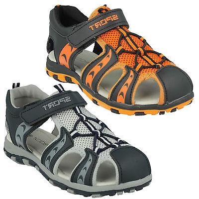 INFANTS BOYS KIDS N0040 WALKING SPORT SUMMER RIPTAPE STRAP SANDALS SHOES JCDEES