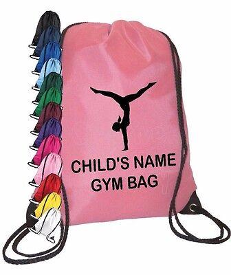 Personalised Gymnastics//PE//School//Sports Drawstring Bag