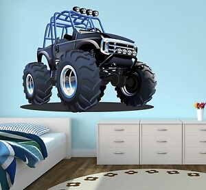 Charmant Image Is Loading Monster Truck Wall Decal Boys Bedroom Art Decor