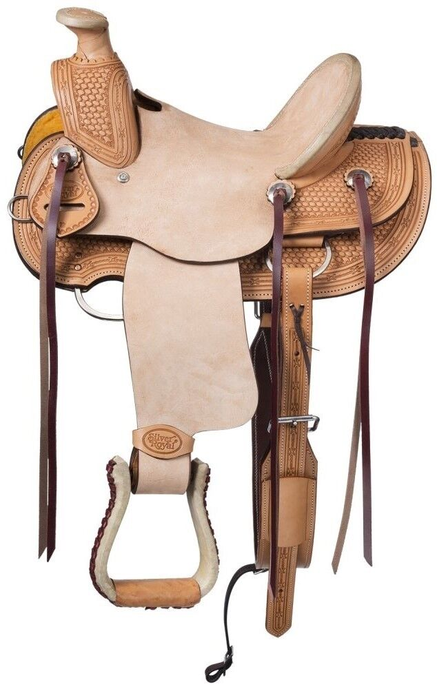 13 Inch Youth Walburg Wade Hard Seat Western Saddle - Light Oil-Roughout Leather