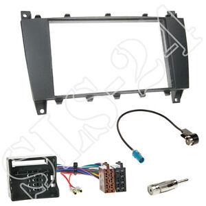 adaptador ISO conector antena Mercedes clase c w203 s203 ab2004 doble DIN diafragma