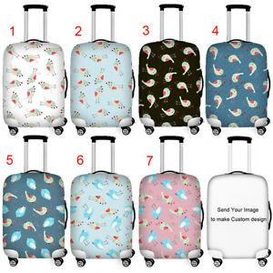 Cute Pineapple Pattern Print Luggage Protector Travel Luggage Cover Trolley Case Protective Cover Fits 18-32 Inch