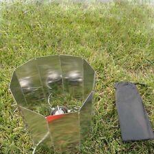 9 Platten Aluminum Windschutz Faltbare Faltbarer Campinggeschirr Gaskocher BBQ