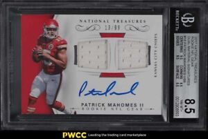 2017 National Treasures Gear Patrick Mahomes II ROOKIE RC PATCH AUTO /99 BGS 8.5