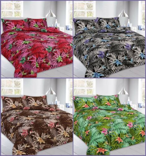 Floral Duvet Cover Sets With Pillow Cases King Size Double Single Super Bedding