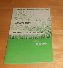 Vintage Lawn Boy 19 Inch Lawn Mover Model 5239 Manual