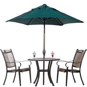 7 1 2 Ft Round Outdoor Market Patio Umbrella With Push Button Tilt