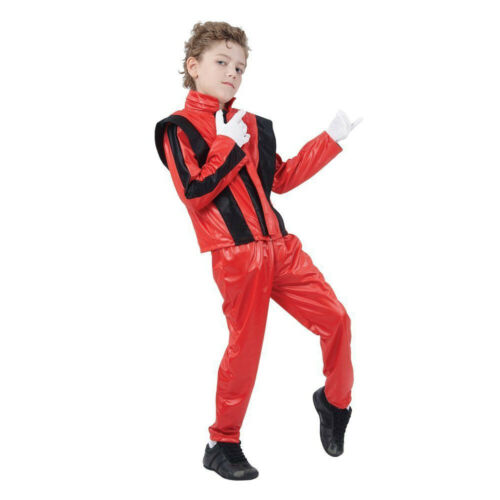 Children/'s Boys Thriller Kids Michael Jackson Fancy Dress Costume Book Day 80/'s