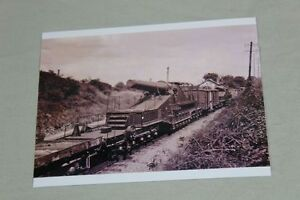 WW2 Repro Photo - Railway Wagon, Gun Cannon On Railroad / S138