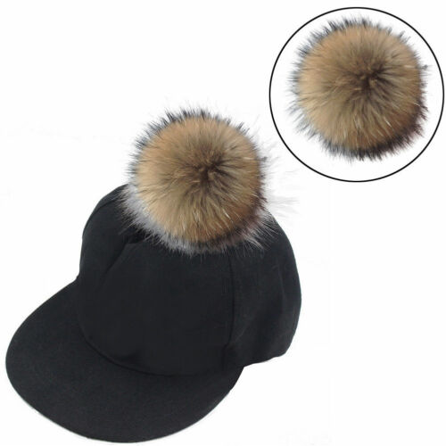 Soft Faux Raccoon Fur Hair Ball Fluffy Pompom Hat Clothing Bag Shoes Accessory