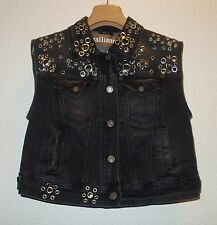 John Galliano Denim Vest Sleeveless Jacket SZ EU 40 NEW