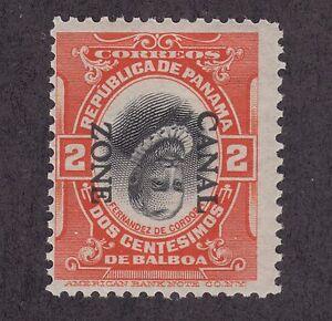 Canal-Zone-Sc-39e-MNH-1912-2c-vermilion-amp-black-Cordoba-with-INVERTED-CENTER