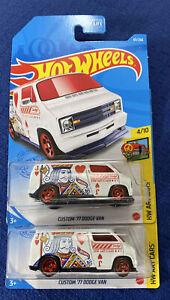 2021 Hot Wheels Regular Treasure Hunt w// Custom /'77 Dodge Van Lot of 4