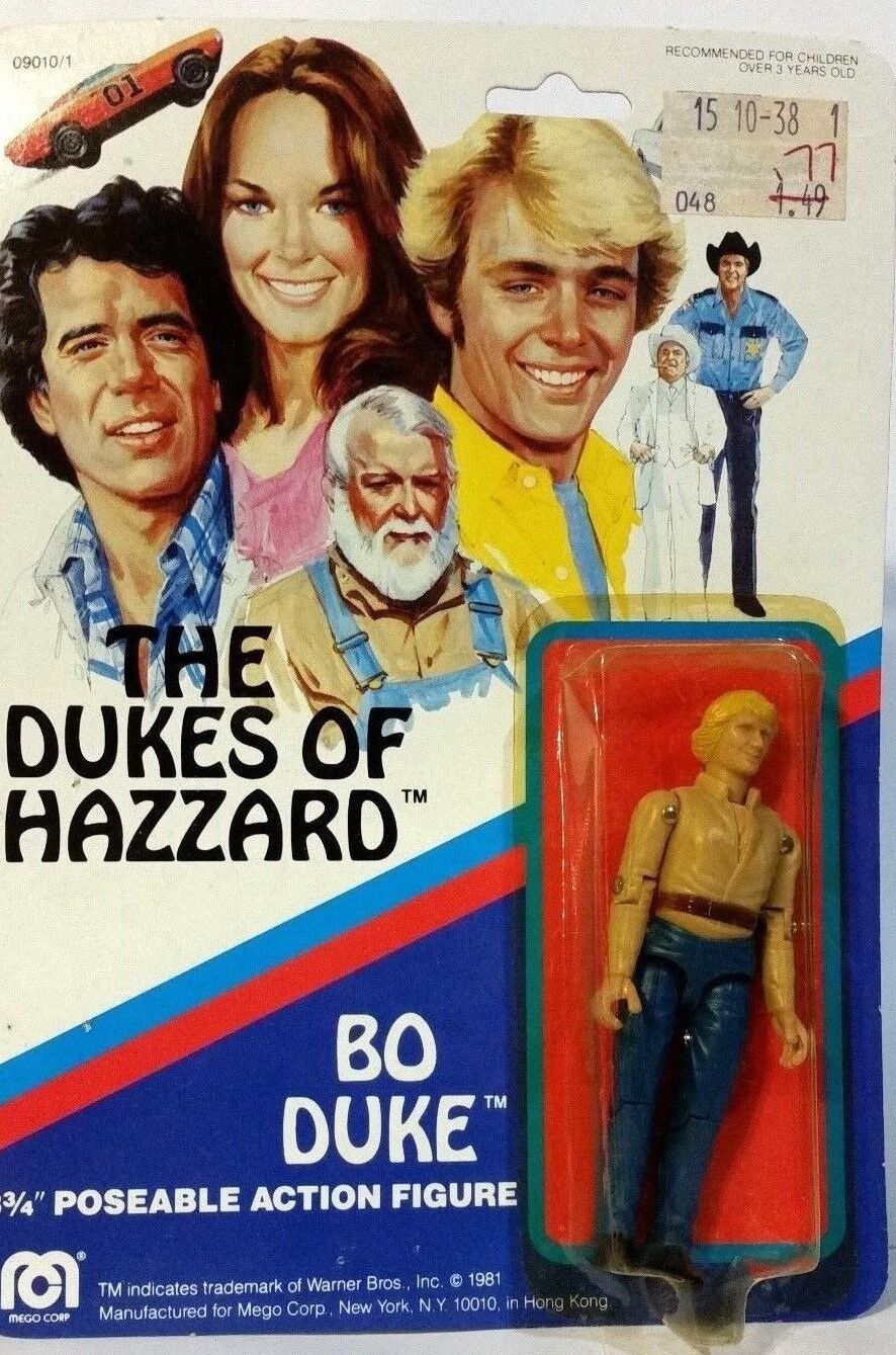 Dukes of hazzard 1981 mego 3 3   4 bo duke actionfigur moc