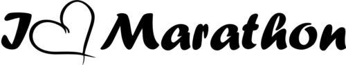 Sticker Autoaufkleber Laufen-Joggen-Marathon 001 Aufkleber I Love Marathon