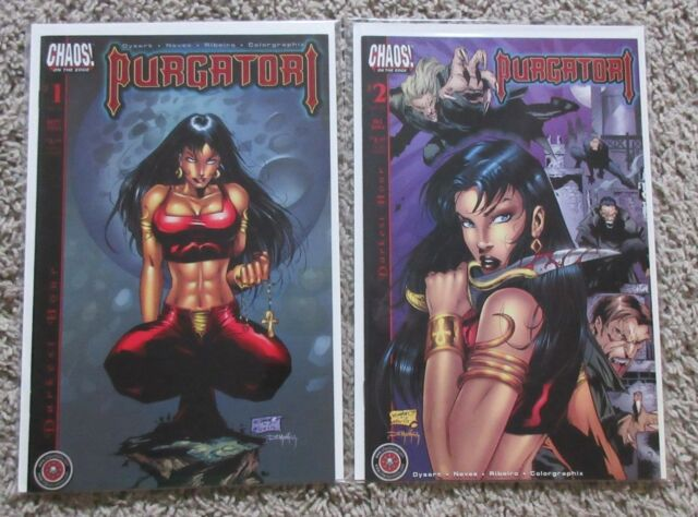 PURGATORI DARKEST HOUR 1-2 CHAOS COMICS COMPLETE SET SERIES 1 2