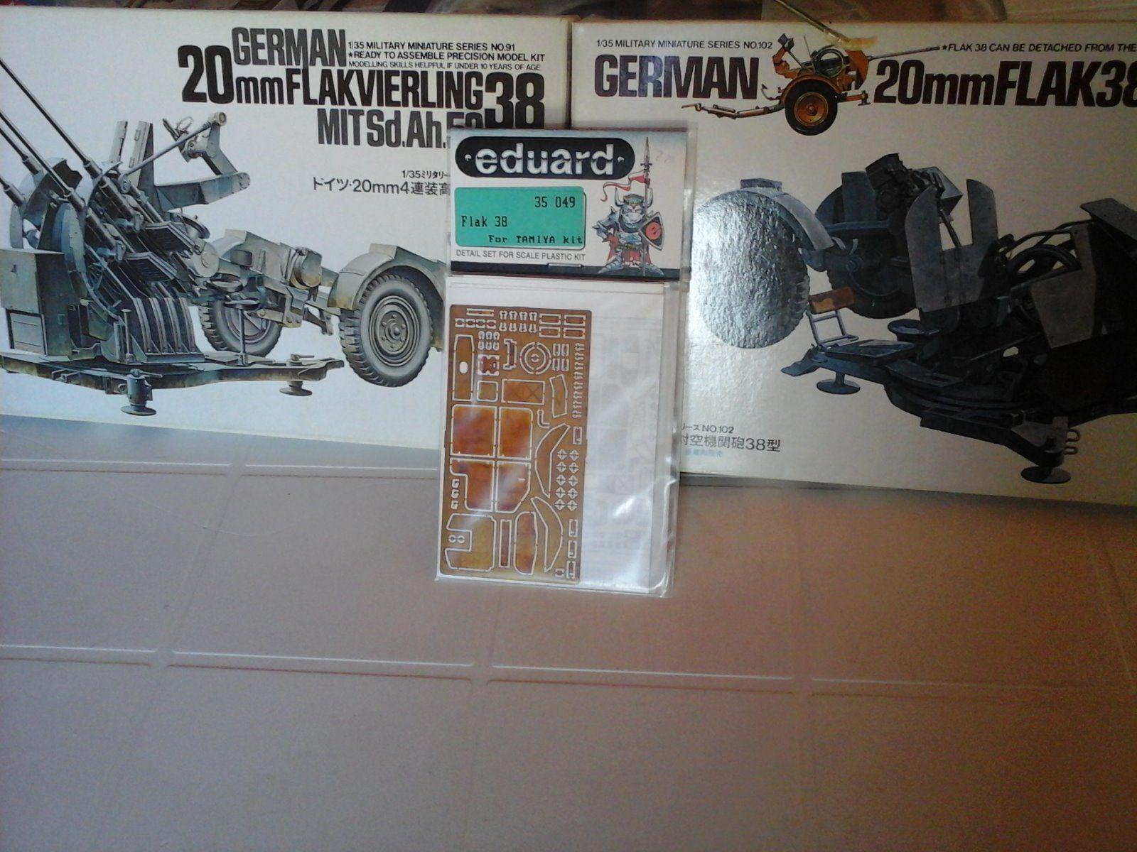 KIT n.3 GERMAN FLAK38 1 35 SCALE TAMIYA MODEL+PHOTOETCHED PARTS EDUARD