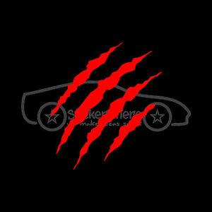 CLAW-SCRATCH-Sticker-Monster-Animal-Decal-Dinosaur-Blood-Car-Truck-Wild-Rabid-V1