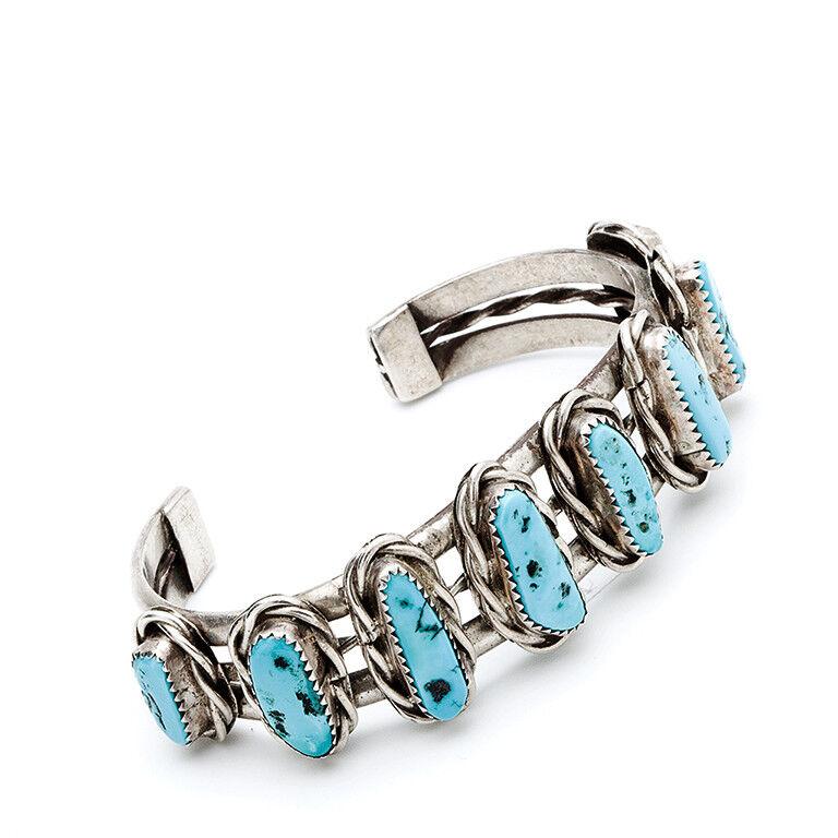 Turchese Bracciale gioielli indiani Navajo Turchese Bracciale Bracciale Bracciale Western gioielli Pawn df8146