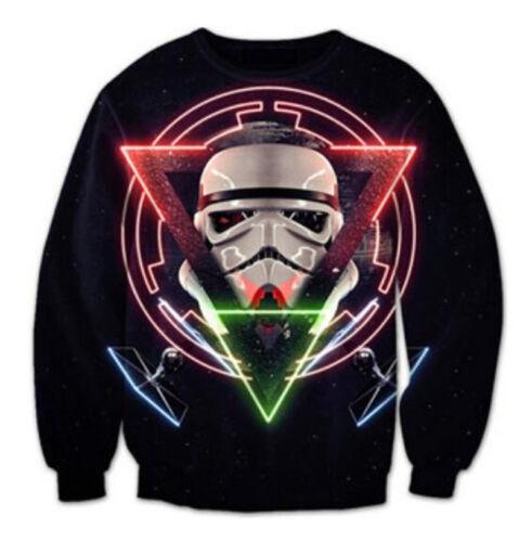Womens//Mens Star War Galaxy Funny 3D Print Casual Sweatshirt Hoodies Sweatshirt