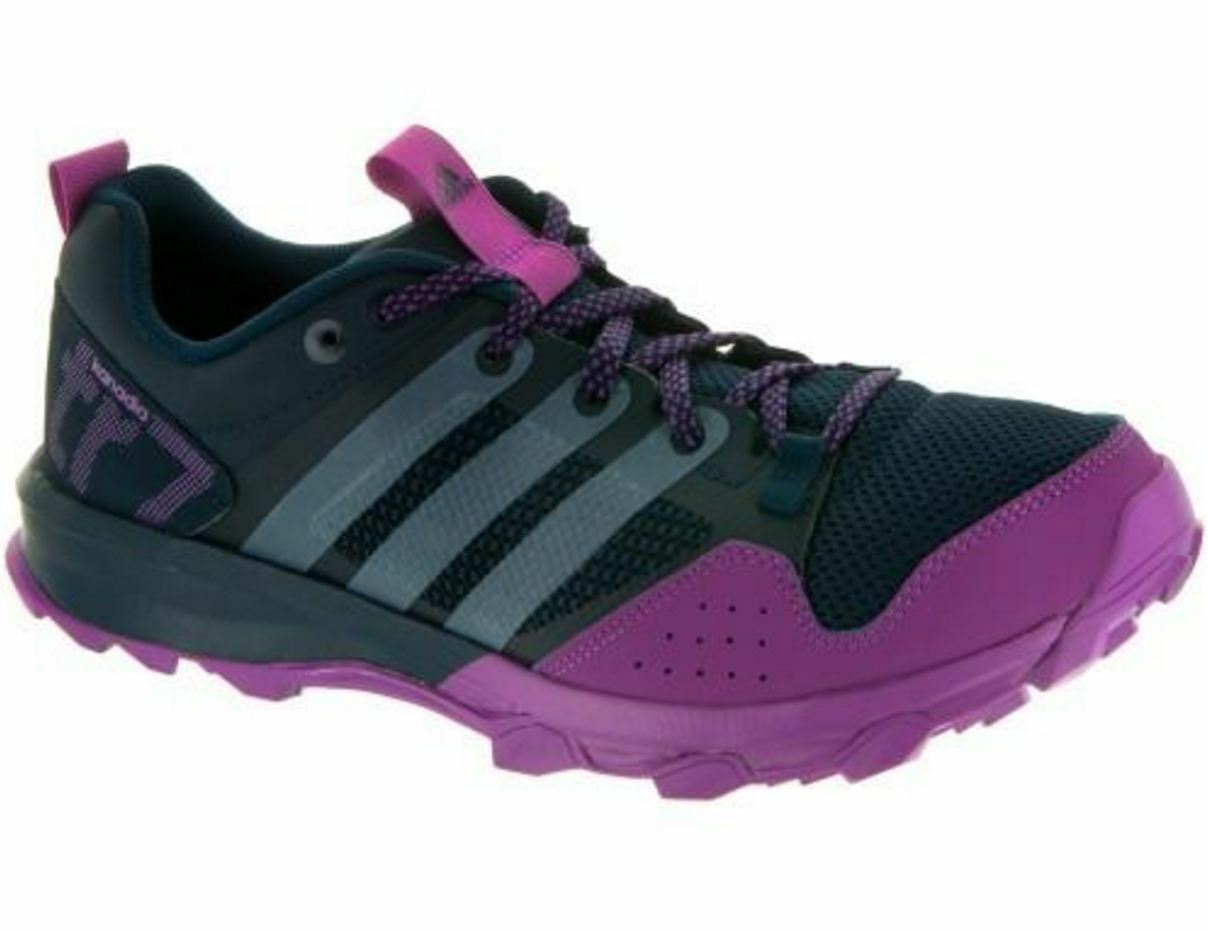 NWT Femme adidas Kanadia 7 Tr Athletic Running Chaussures B40584 BlkGryPrpl