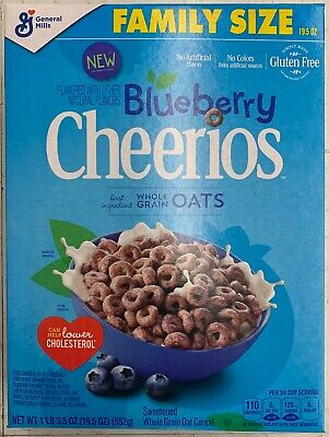 New General Mills Family Size Blueberry Cheerios Cereal 19