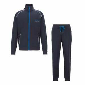 Hugo-Boss-Cotton-Slim-Fit-Funnel-Zip-Navy-Tracksuit