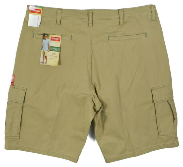 50909b63e5 Wrangler #7975 NEW Men's Flat Front 100% Cotton Relaxed Fit Cargo Shorts
