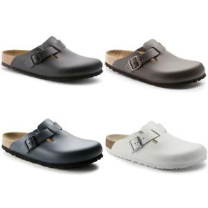 Birkenstock Boston Clog Hausschuhe Clogs Pantoletten Glattleder Leder Schuhe