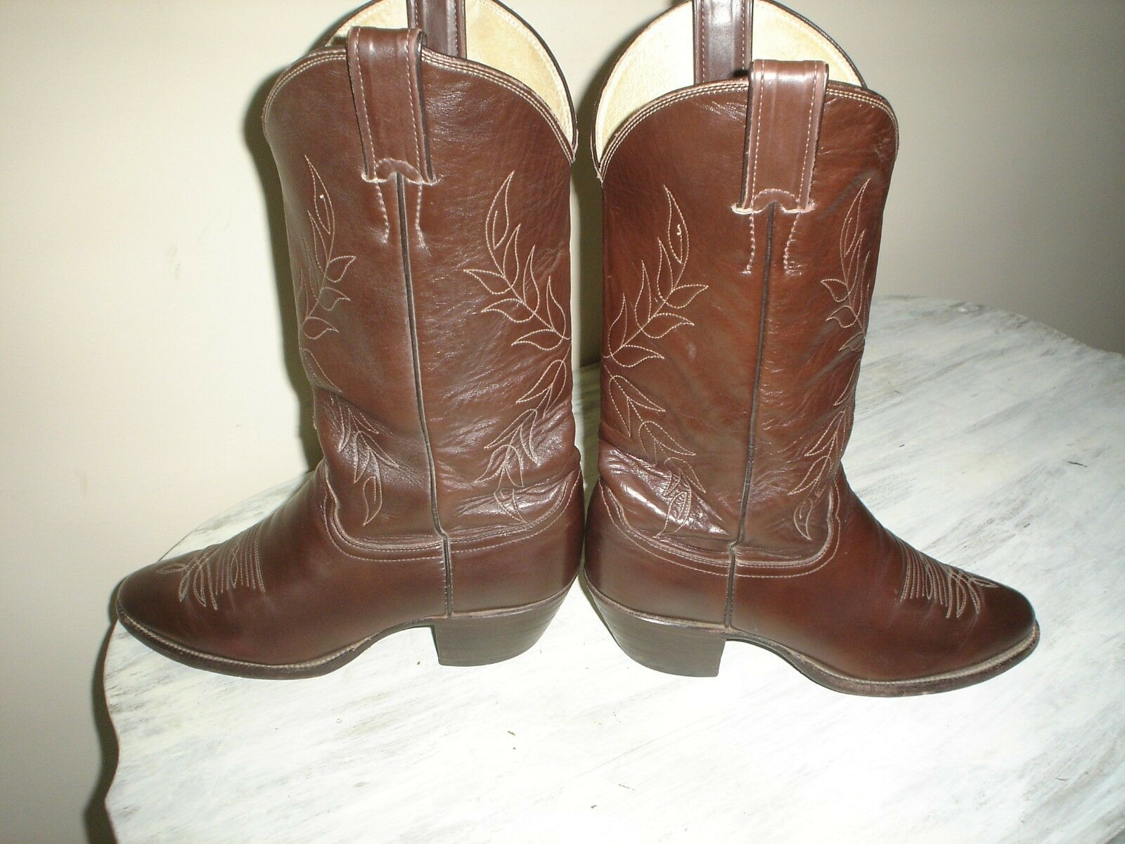 JUSTIN Women's 5407 Chocolate Brown LEATHER COWBOY WESTERN BOOTS BOOTS BOOTS USA  7.5 B VGC 87d05d