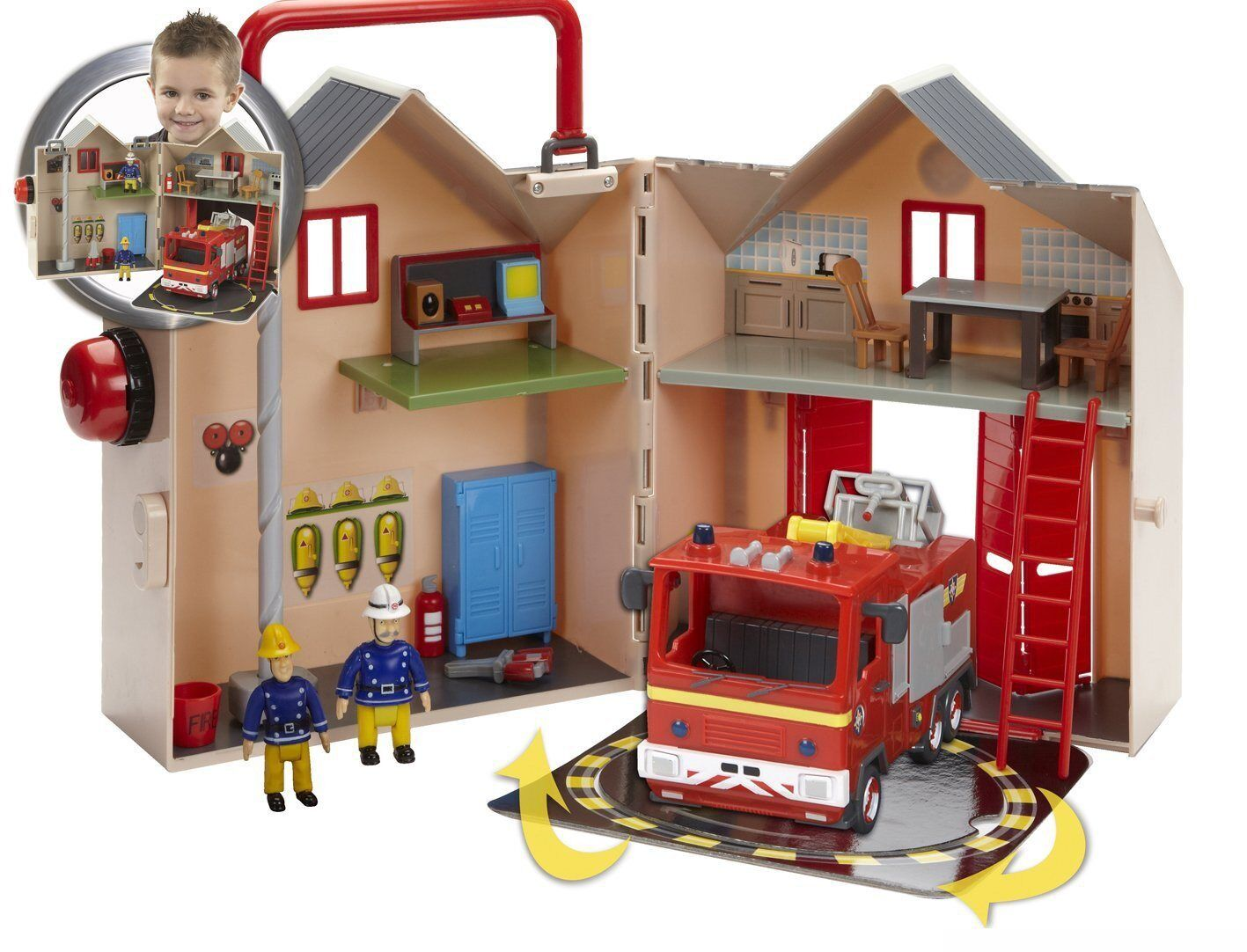 Fireman Sam Deluxe Fire Station Playset with Jupiter fire engine