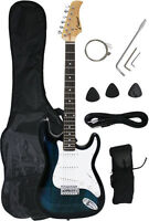 ~Sale New Crescent  BLUEBURST Electric Guitar+Strap+Gigbag+WARRANTY