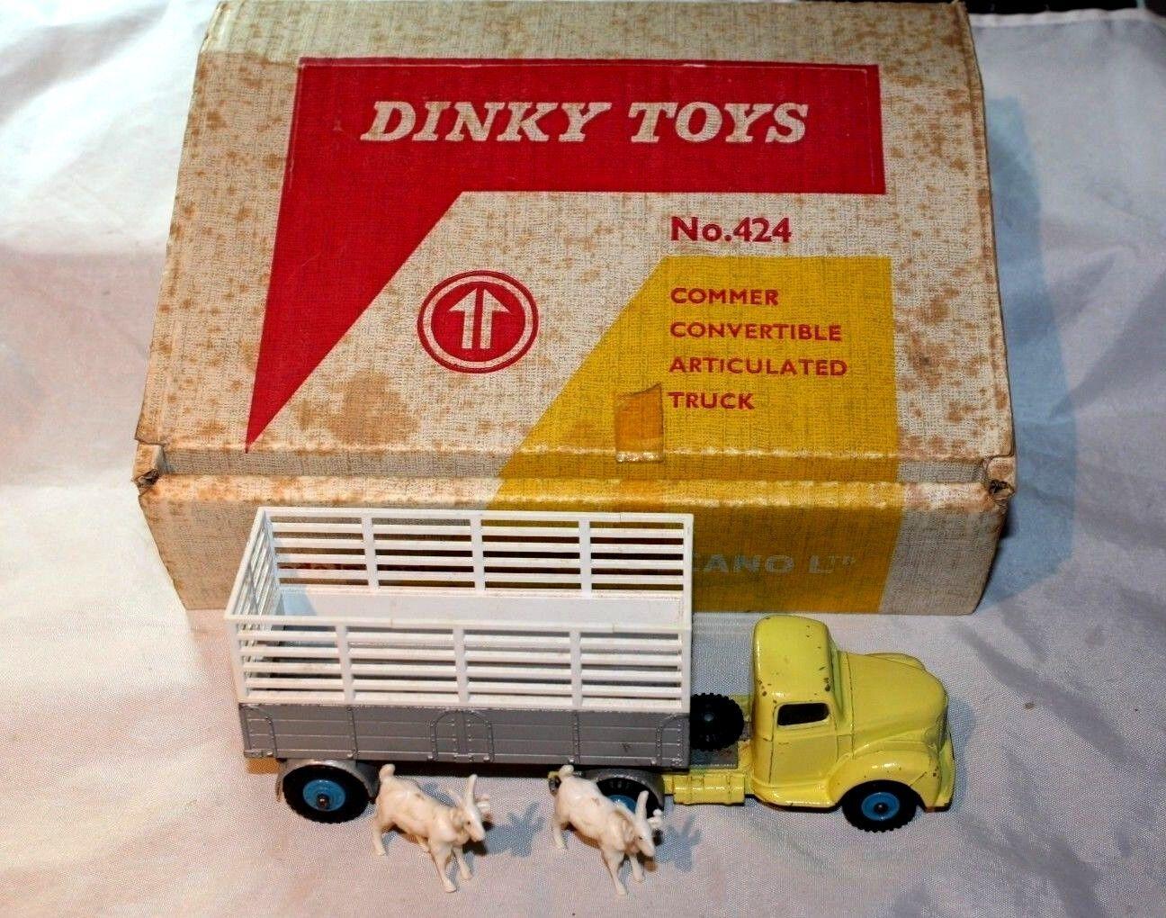 Dinky 424 COMMER CONVERTIBLE Articulé Camion Set dans boîte d'origine