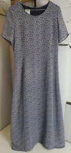 Laura-Ashley-Vintage-Floral-The-Robe-Taille-12-entierement-double