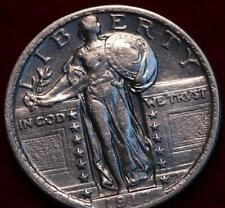 Uncirculated 1917 Type II Philadelphia Mint Silver Standing Liberty Quarter