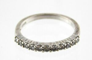 Dainty Sterling 925 Cubic Zirconia CZ Designer Ring Size 6.75