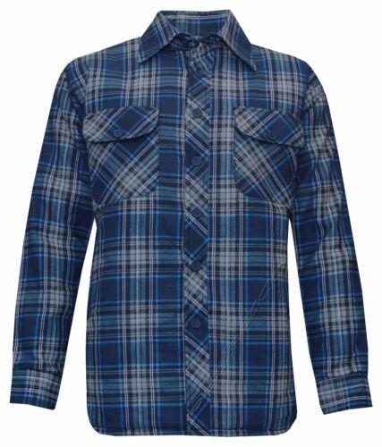 5XL Nuevo Para Hombre Caliente Acolchado Chaqueta Camisa Lumberjack cheque trabajo grueso M