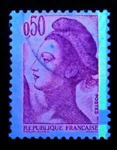 France-Maury-n-2189-Y-amp-T-n-2184-Liberte-de-Gandon-Rare-bande-phosphore-a-cheval