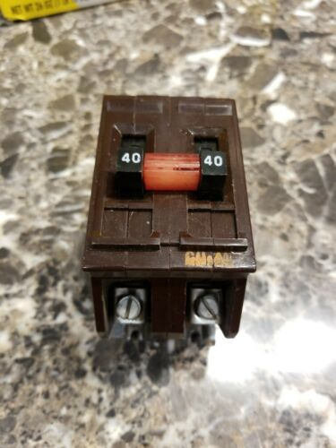 40 Amp Wadsworth A240 Double or 2 Pole 40 A Type A Breaker Nice Shape Guaranteed