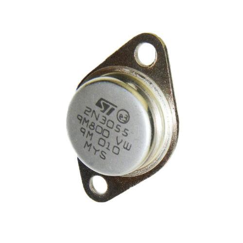 10 X transistor 2n3055 NPN power transistor 115w 60v 15a stm to-3