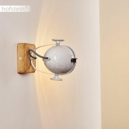 Vintage Wand Leuchte Holz-weiß Wohn Schlaf Zimmer Beleuchtung Flur Dielen Lampen
