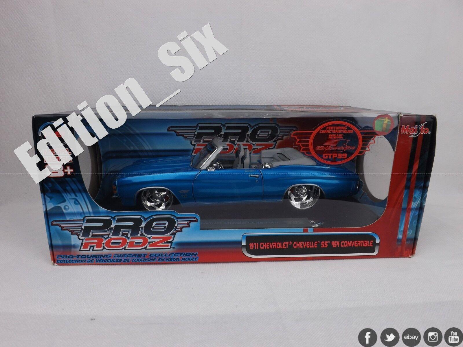 hasta 60% de descuento Maisto Pro Rodz 1 18 1971 1971 1971 Chevrolet Chevelle 454 converdeible coche clásico  calidad oficial