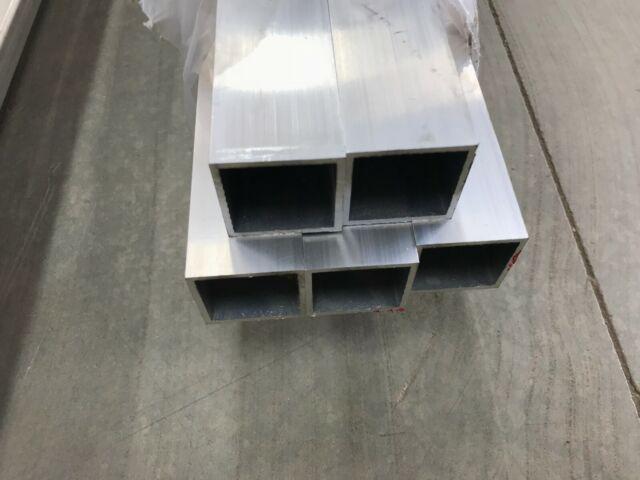 3 Aluminum Square Tube 1//4 wall x 96 long 6061 Square Tube Mill Finish