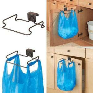 New Portable Trash Can Over The Cabinet Plastic Bag Holder Kitchen