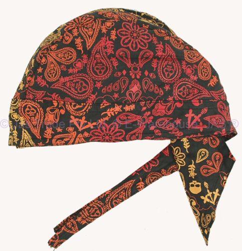 Fitted Bandana Cotton Dorag Chef Du-rag Durag Biker Helmet Liner Hat Headwrap