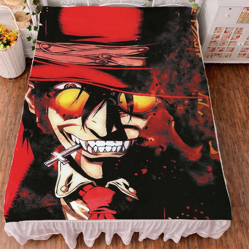 Hot Anime Hellsing Alucard Bedsheet Micro Fiber Flano Blanket Otaku Cos 1.52m