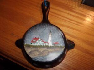 4 Quot Cast Iron Lighthouse Frying Pan Wall Hanging Decor Ebay