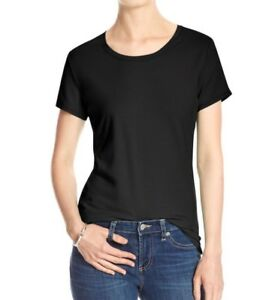 Banana-Republic-Timeless-Crewneck-Tee-Black-Short-Sleeve-T-Shirt-Women-s-Top-NWT