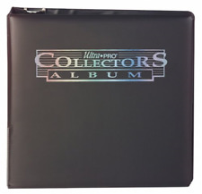 "Ultra Pro 3"" Black Collectors Album Cards Binder Pages Pocket Rings Trading Card"